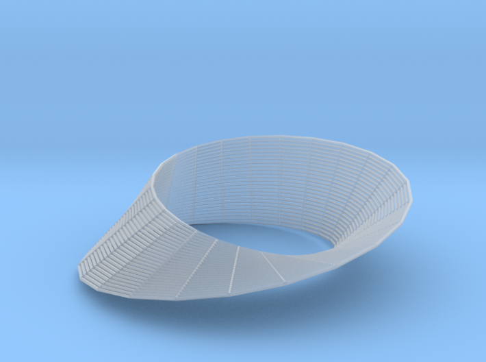 Mobius (wireframe) 3d printed
