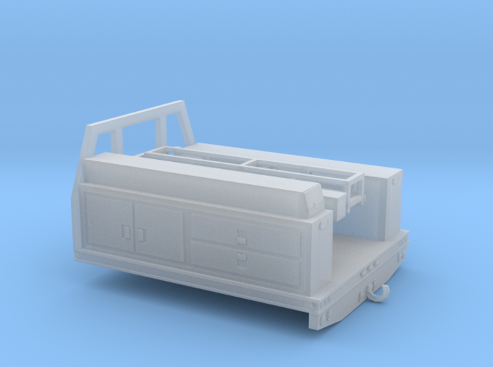 1/87th HO Fire service utility flatbed 7' wide 3d printed