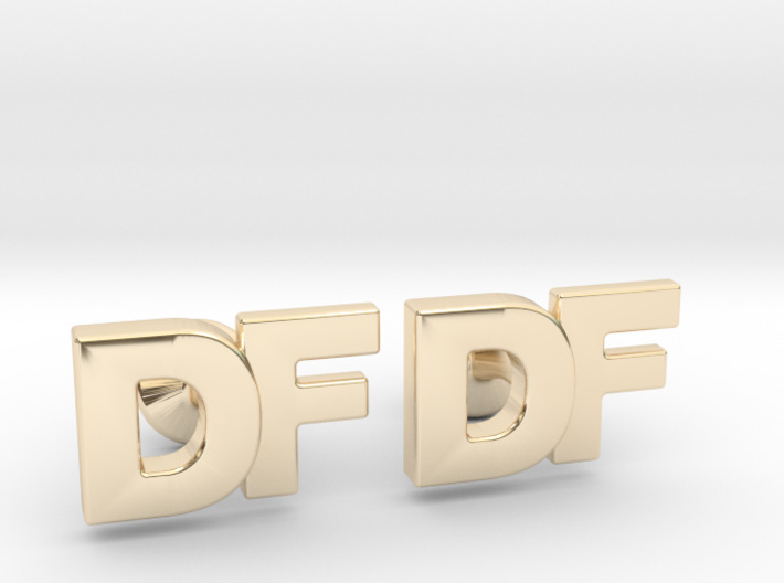Monogram Cufflinks DF 3d printed
