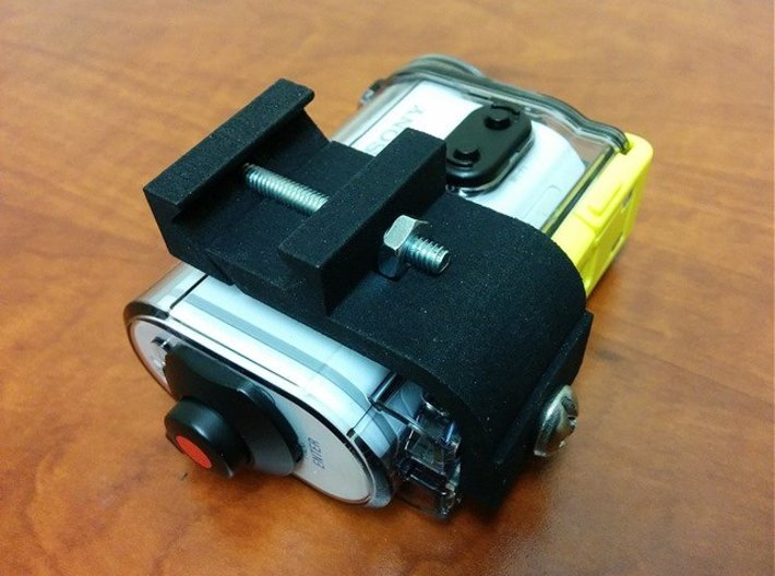 Sony Action Cam Picatinny Mount Adapter 3d printed