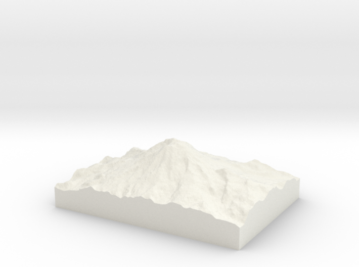 Mt. Rainier: Topophile Model #0001 3d printed