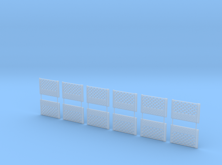 Concrete fencing spans at 1:87 HO scale Type B 3d printed