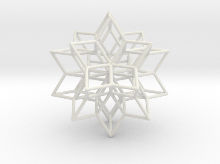 Rhombic Hexecontahedron, 1.65mm round struts 3d printed