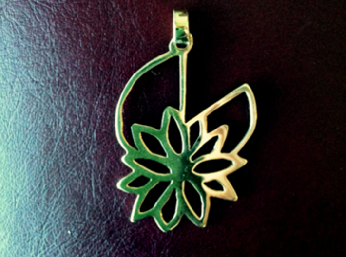 Waterlily Pendant 3d printed Add a caption...
