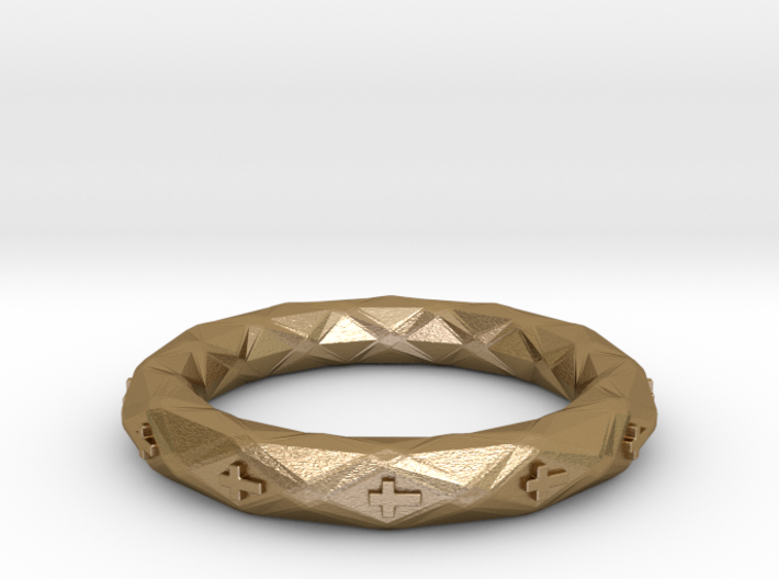 Faceted Cross Bracelet 3d printed