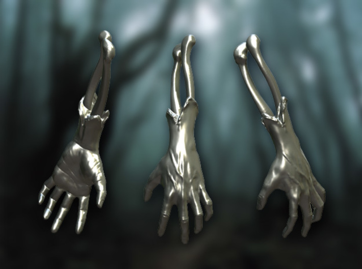 Zombie Arm Keychain / Necklace Walking Dead 3d printed