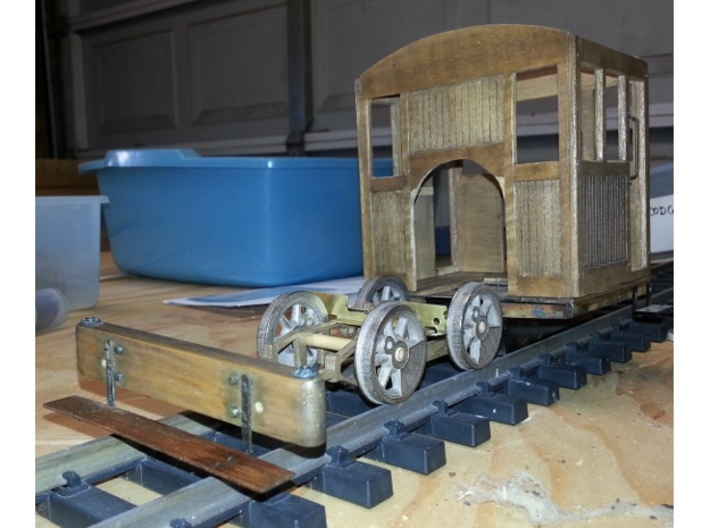 0-4-0 frames for OR&L Kauila 1:20.32 3d printed Saddle and front beam are mounted.
