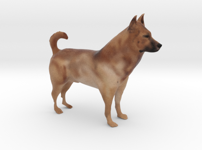 "Shepherd Dog - 10cm / 4"" - Full Color 3d printed"