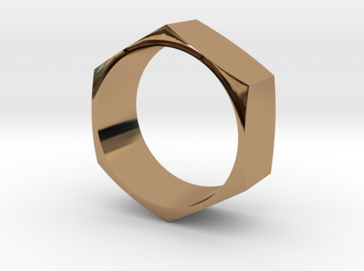 Hex Nut Maker Ring (Size 10.5- 20mm) 3d printed