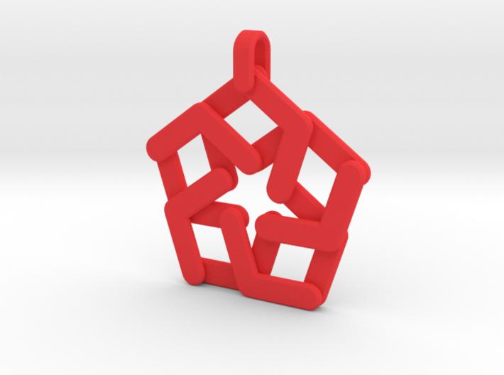 Expandable Pentagonal Pendant/Keychain 3d printed