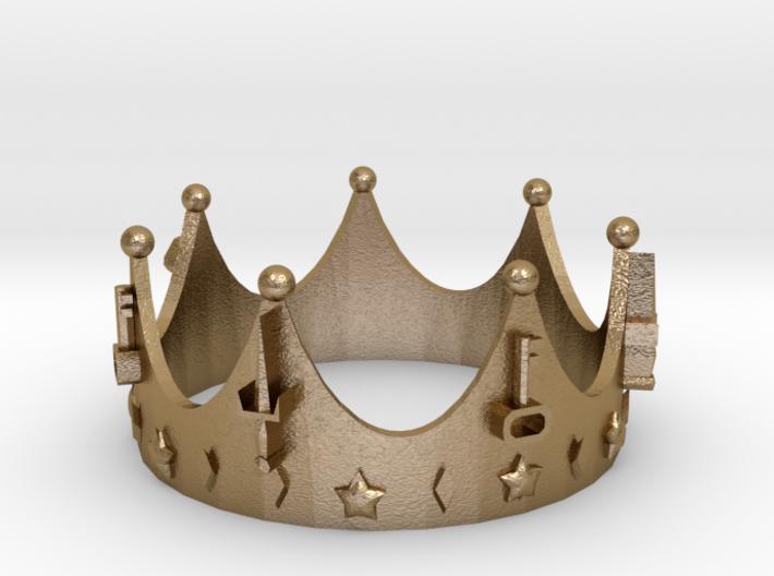 Geekings Crown 3d printed
