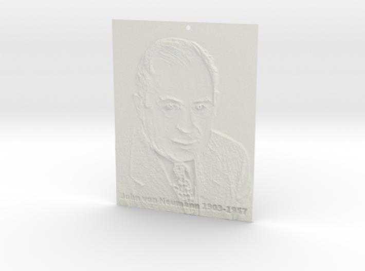 John von Neumann Shadowgram 3d printed