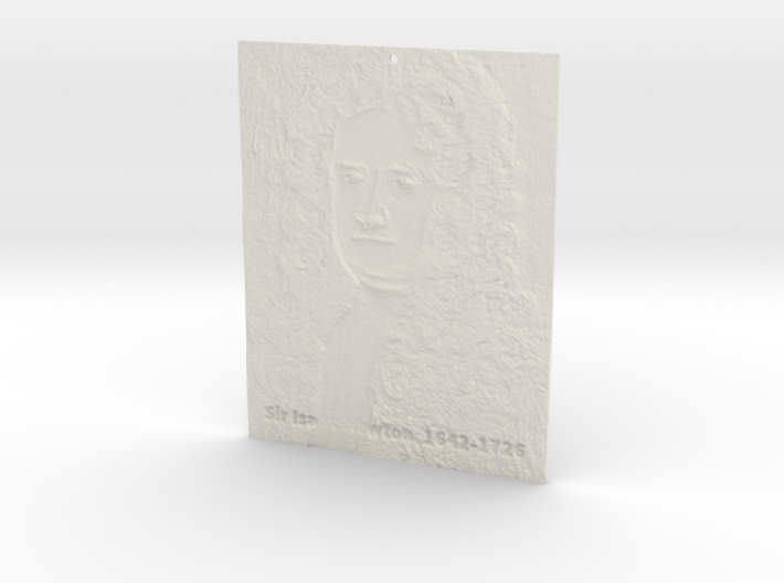 Sir Isaac Newton Shadowgram 3d printed