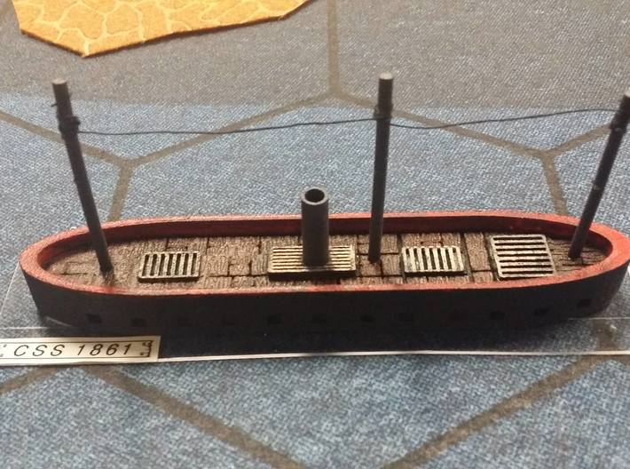 "1/600 CSS 1861 (""North's Ironclad""); HMS Danmark 3d printed"