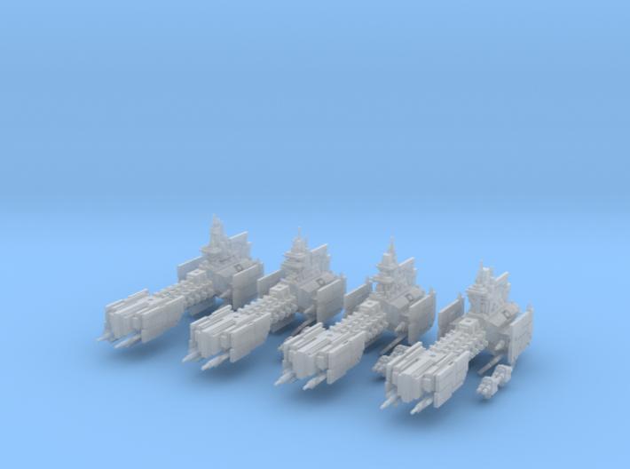 Legion - Infante Class Frigate (x4) 3d printed
