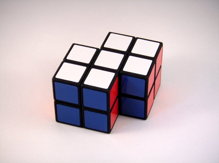 Siamese 2x2x2 Puzzle 3d printed Side 2