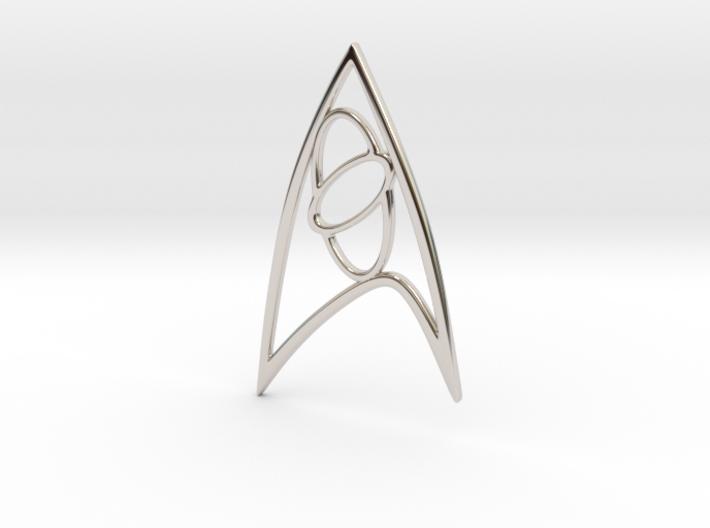 Star Trek - Starfleet Science Sign 3d printed Starfleet Science Sign Rhodium