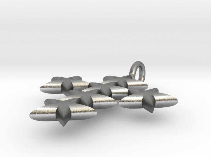 StarCross Medium Pendant 3d printed