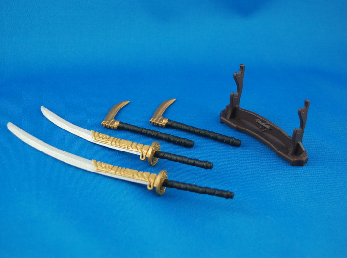 Samurai's Weapons Set 3d printed