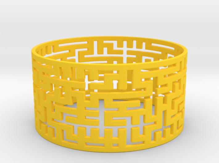 Maze Bracelet 80mm 3d printed