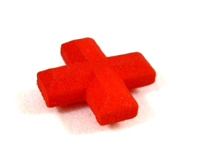 Medical Plus Sign, Heal Token for Flash Point 3d printed Side View in Red Strong & Flexible
