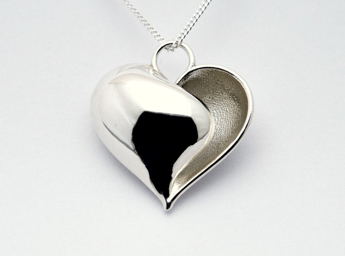 Shy Love (from $12.50) 3d printed Shy Love (S) In Polished Silver from $75