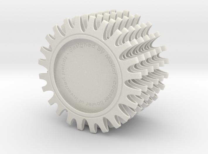 Coaster of inverted petals x6 3d printed