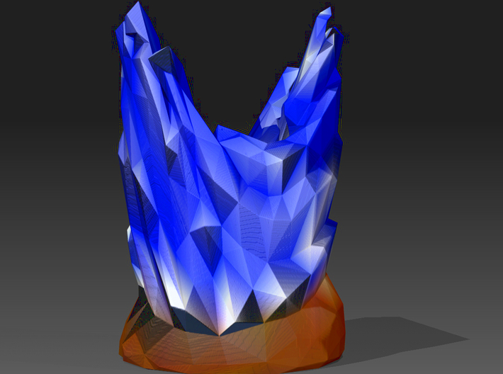 Organic Sculpture Coloured 3d printed render