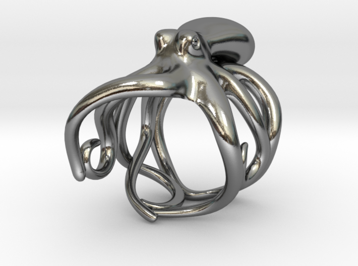 Octopus Ring 20mm 3d printed