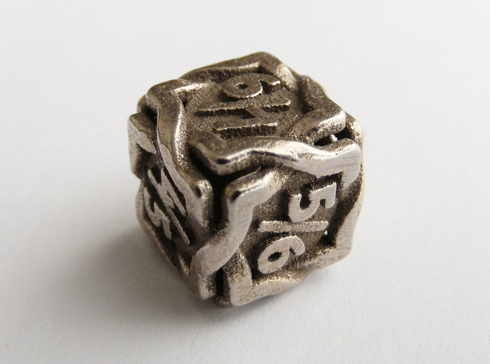 'Twined' Dice D6 Gaming Die Tarmogoyf P/T Version 3d printed