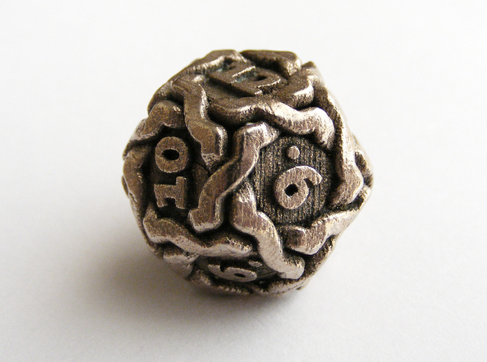 'Twined' Dice D12 Gaming Die (20mm) 3d printed