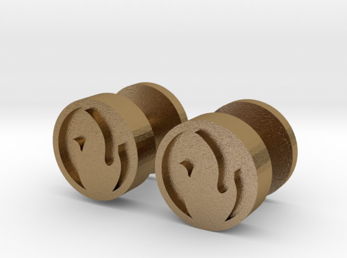 Team Fortress 2 Pyro Cufflinks 3d printed