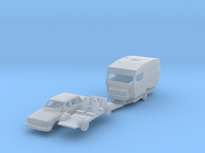 SET Volvo 244 + Polar 470 (N 1:160) 3d printed