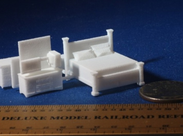 Bedroom HO Scale Expiremental Layout 3d printed Add a caption...