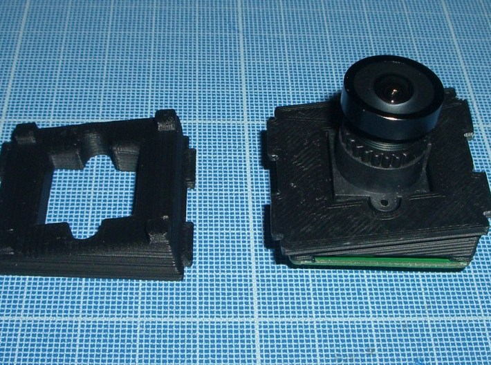 Tilted camera holder for ZMR250 3d printed