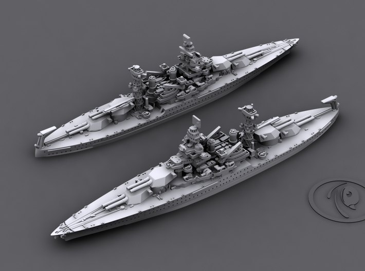 1/4800 US BB Colorado-Maryland Class [1941] (2+1) 3d printed BB48 West Virginia[1941]