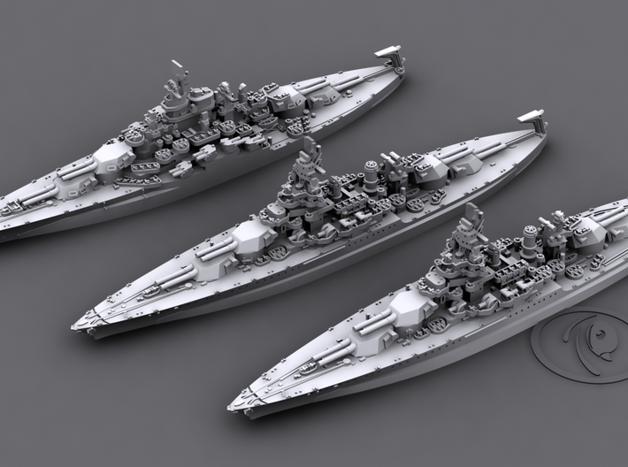1/4800 US BB Colorado-Maryland Class [1944] 3d printed Computer software render