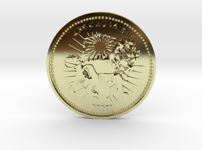 Wick Coin  Brass or Gold 3d printed