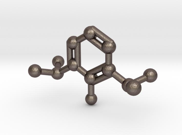 Propofol Molecule Keychain Necklace 3d printed