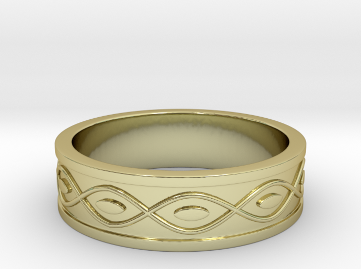 Ring with Eyes - Size 9 3d printed