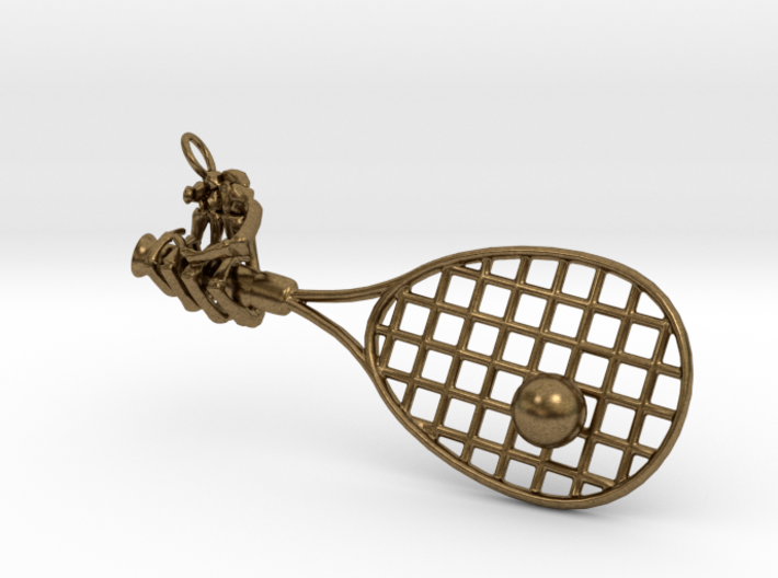 Hand Holding Racquet 53mm 3d printed
