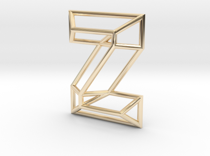 Z Pendant 3d printed