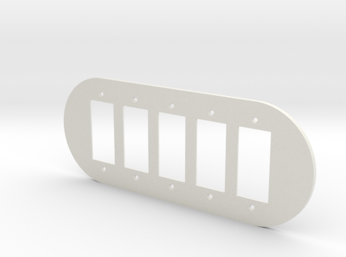 plodes® 5 Gang Decora Outlet Wall Plate 3d printed