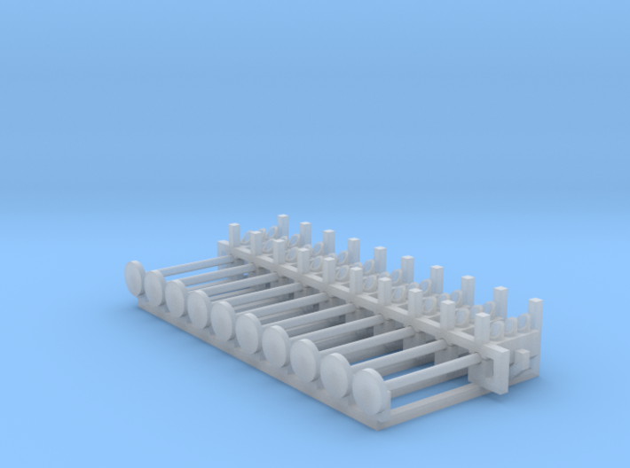 N Scale Traffic Lights On Pole (10pc) 3d printed