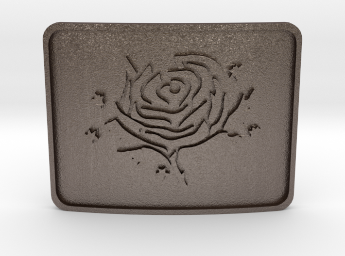 Cold Roses Belt Buckle 3d printed