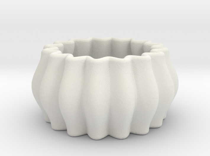 DRAW napkin ring - curvy round 2mm wall 3d printed
