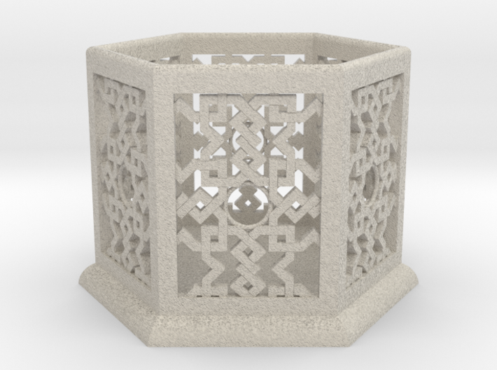 Large Islamic Geometric Candle Lantern. 3d printed