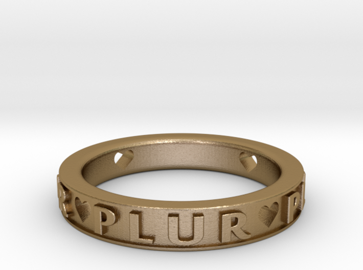 Plur Ring - Size 8 3d printed