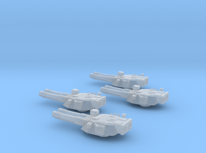 285 Mk IV Destroyer turrets 3d printed