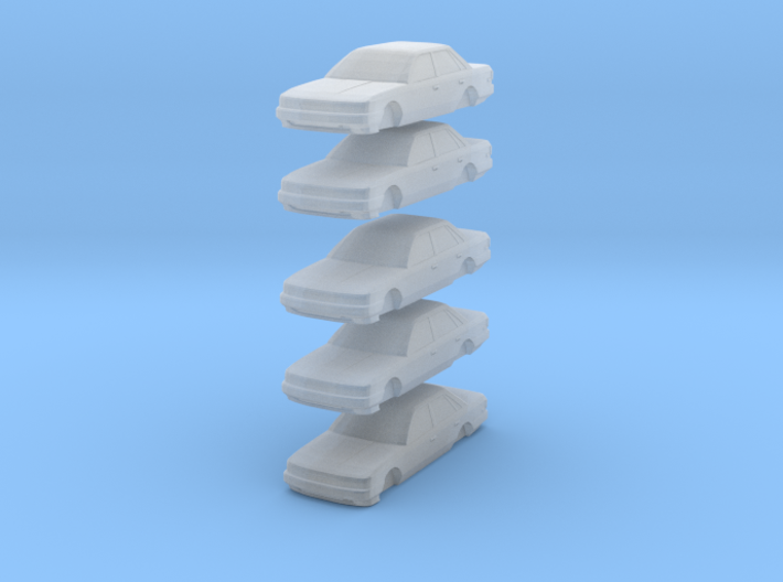 N scale toyota camry 1987-1991  5 pack 3d printed